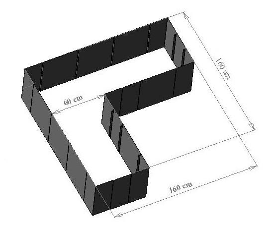 edelstahl hochbeet corner 160. Black Bedroom Furniture Sets. Home Design Ideas