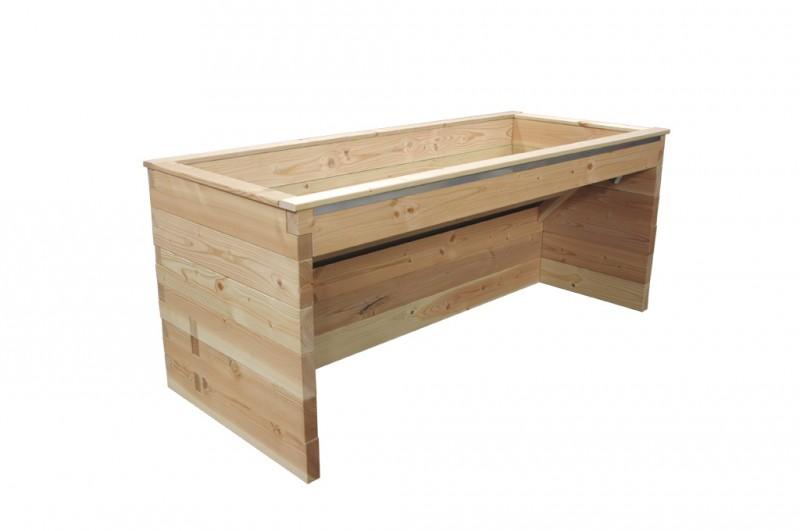 einseitig unterfahrbares hochbeet 190cm breite. Black Bedroom Furniture Sets. Home Design Ideas
