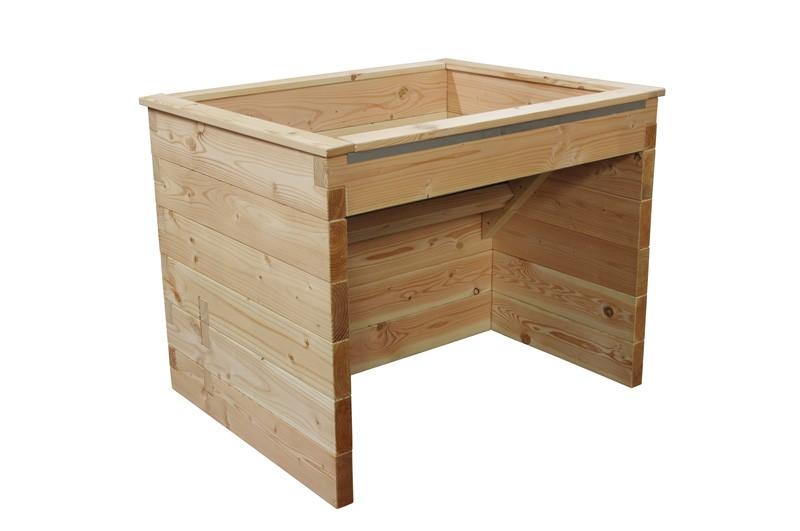 einseitig unterfahrbares hochbeet 110cm breite. Black Bedroom Furniture Sets. Home Design Ideas
