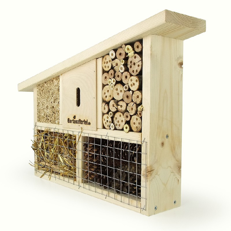 insektenhotel schr gdach. Black Bedroom Furniture Sets. Home Design Ideas