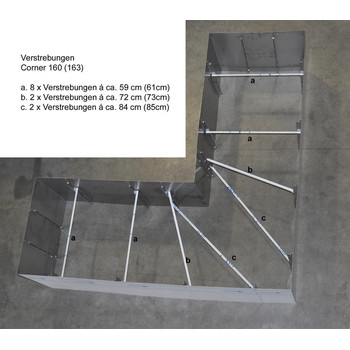 Edelstahl Hochbeet Corner 160 50cm Hohe